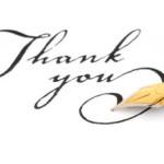 Testimonials Thank-you